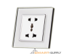 Electrical Socket, Universal + 2Pin Dual