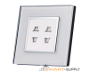 Electrical Socket, double 2PIN Italian