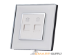 Crystal Glass Outlet Socket Double Telephone CAT3 - SHPO-S-2TEL