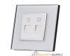 Crystal Glass Outlet Socket MIX TEL+DATA - SHPO-S-1DAT1TEL