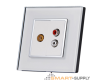 Crystal Glass Outlet Socket Audio/Video - SHPO-S-1AV