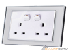 Twin UK socket with switch